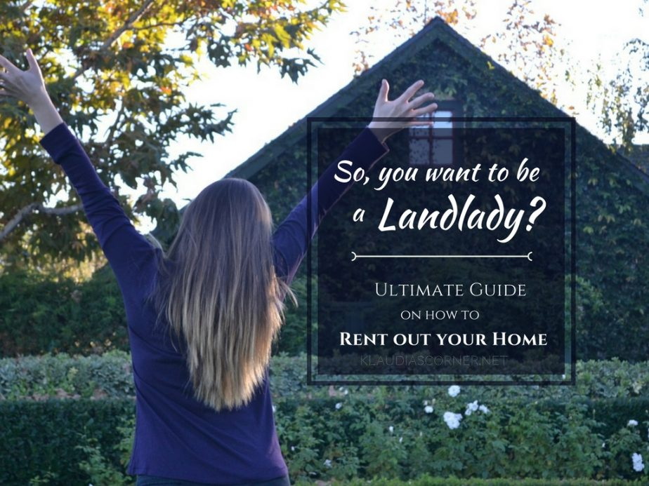 How to rent out your home you want to be a landlady for How to rent out house